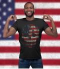 Tee Shirt Noir American Skull, Tête de mort USA