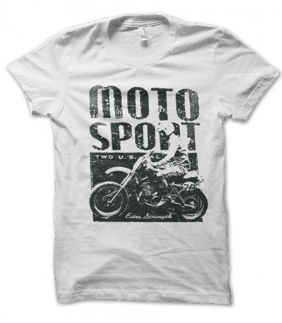 Tee Shirt Vintage Moto Sport, extra Strenght US