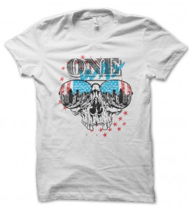 Tee Shirt One Way, American Skull City