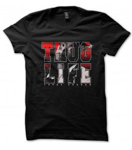 Tee Shirt Noir Thug Life, Tupac Shakur