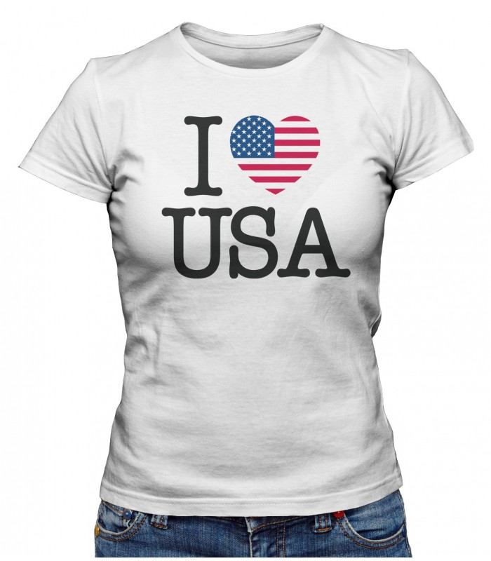 t shirt femme i love usa teez tee shirt humour et originaux. Black Bedroom Furniture Sets. Home Design Ideas