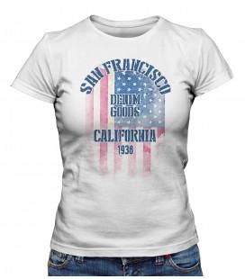 T-shirt Femme San Fransisco Denim Goods 1938
