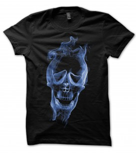 Tee Shirt Noir Skull in the Smoke