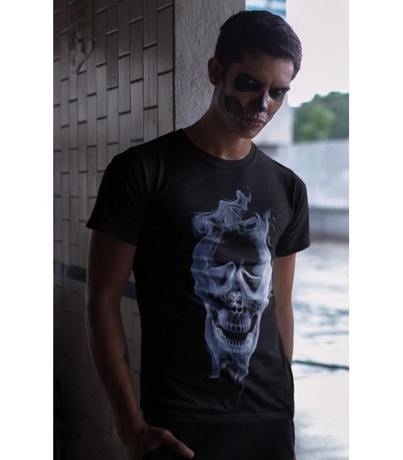Tee Shirt Noir Skull in the Smoke