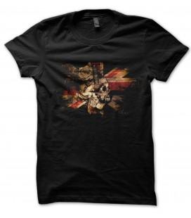 Tee Shirt Skull Union Jack Grunge