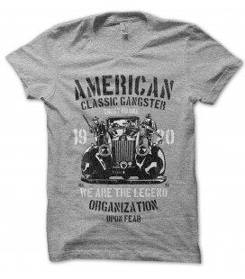 Tee Shirt American Classic Gangster Vintage