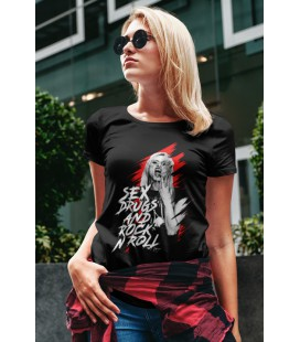 Tee Shirt Femme Sex, Drug and Rock 'n Roll