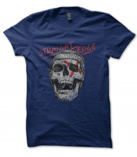 Tee Shirt Vintage Straight Edge Skull