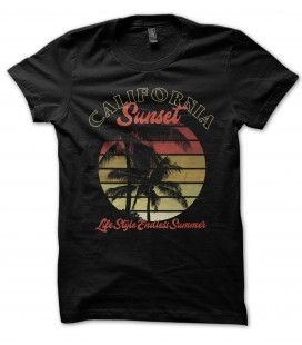 Tee Shirt Bio, California Sunset, LifeStyle Endless Summer