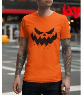 Tee Shirt 100% Bio, Halloween Scary Face