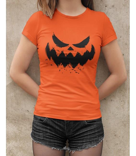 Tee Shirt Femme 100% Bio, Halloween Scary Face