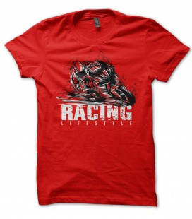 Tee Shirt 100% Bio, Moto Racing LifeStyle