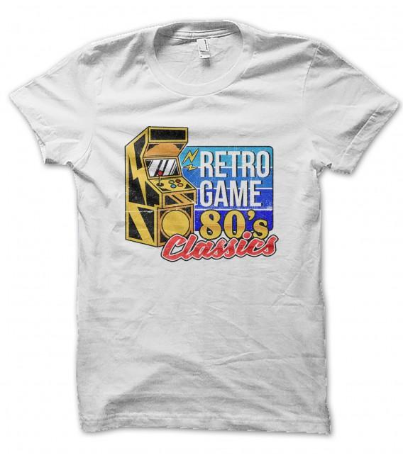 Tee Shirt Retro VidéoGame 80s Classics 100% coton Bio