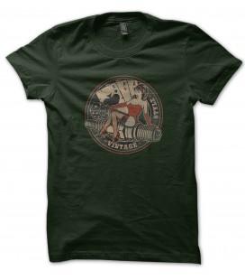 Tee Shirt Pinup Poker Biker Vintage style, 100% coton Bio