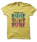 Tee Shirt California Surf Surf Surf West Coast Los Angeles, 100% coton Bio