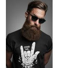 Tee Shirt Stand For Heavy Metal, 100% coton Bio