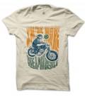 Tee Shirt Biker Smile more, Ride a Motorcycle, 100% coton Bio