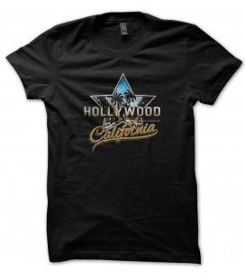 Tee Shirt Hollywood California, 100% coton Bio