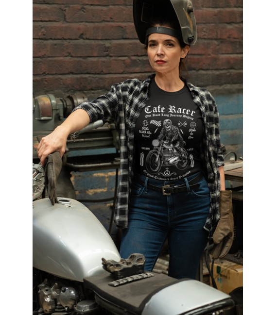 T-shirt Femme Cafe Racer, Original Trademark till Yesterday.... 100% coton BIO