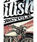 T-Shirt British Motorcycle, 100% coton Bio