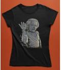 Tshirt Femme Einstein Salt Bae, le Génie des formules, 100% coton BIO