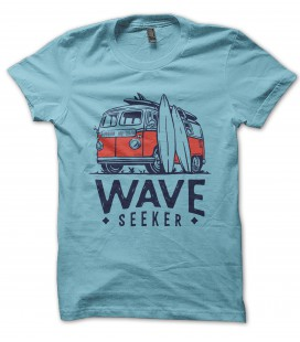 T-Shirt Wave Seeker Pacific Rider Surf 100% coton Bio