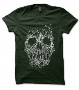 T-Shirt Skull Racine 100% coton Bio