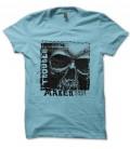T-Shirt Trouble Maker, Tête de Mort 100% coton Bio