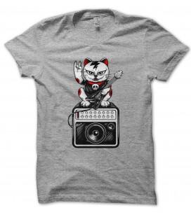 T-Shirt Chat Rock & Roll, 100% coton Bio