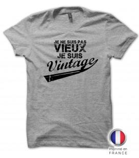 """Tee shirt Anniversaire Homme """" Je ne suis pas vieux, je suis vintage ! """" PROMO !!"""