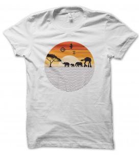 T-Shirt Elephant Quadripode Imperial War, 100% coton Bio