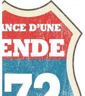 T-Shirt Anniversaire style Route 66, La naissance d'une Légende 100% coton Bio
