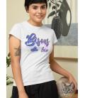 T-Shirt Femme Bisous de loin 100% coton Bio