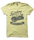 T-Shirt Moto Vintage Legendary Racers, 100% coton Bio