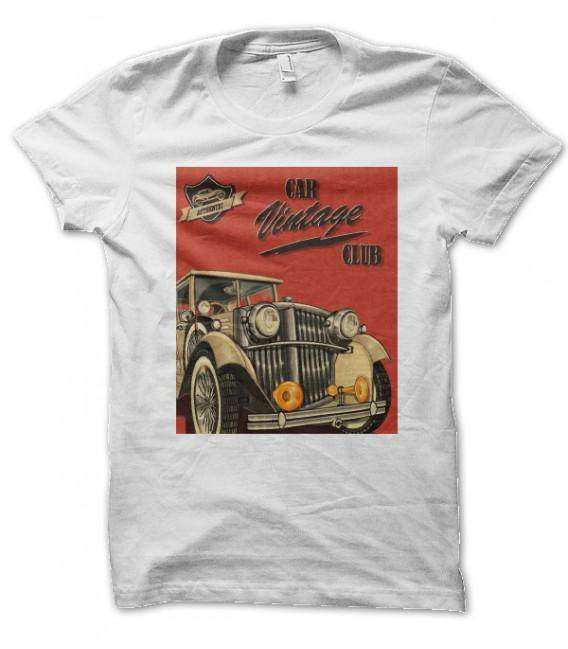 T-shirt Car Vintage Club
