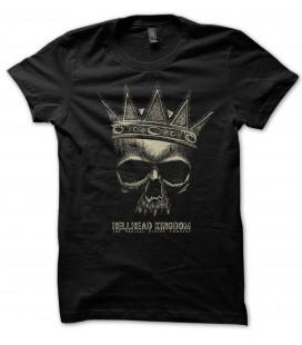T-Shirt HellHead KingDom, Tête de Mort, 100% coton Bio