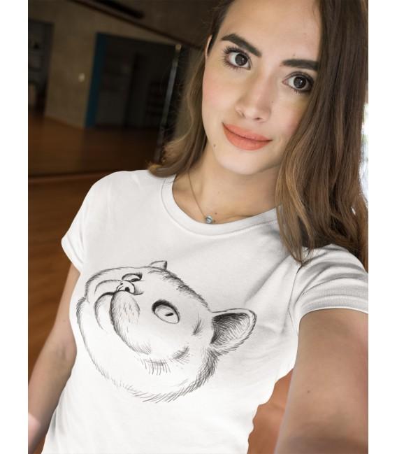 T-Shirt Femme Cat Lover , 100% coton BIO