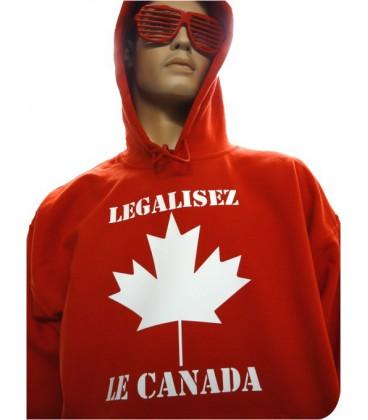 Sweat Shirt Légalisez le Canada