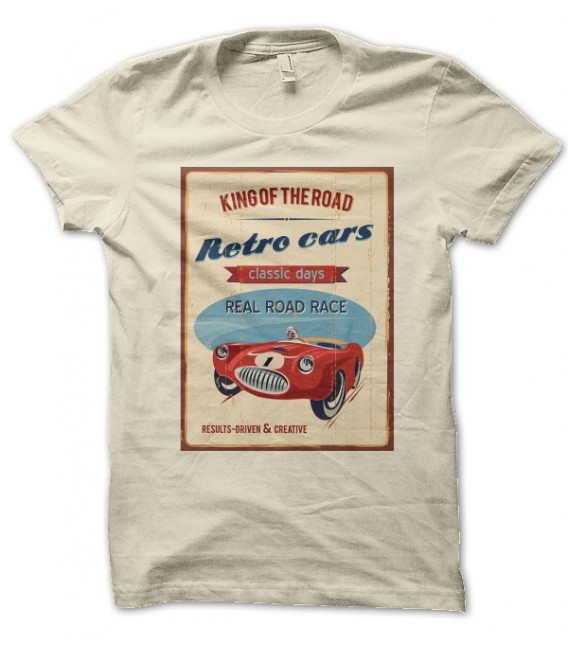 T-shirt vintage King of the Retro Cars Classics