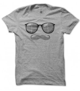 T-shirt Moustache & SunGlasses