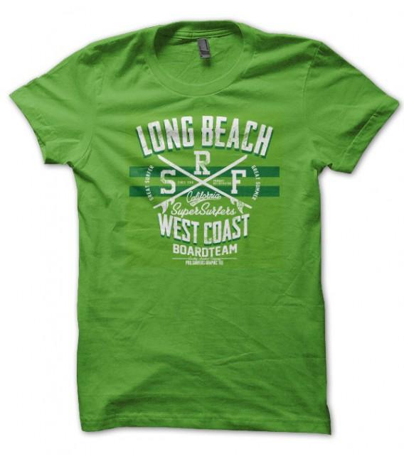 T-shirt Long Beach WestCoast, Surfer California