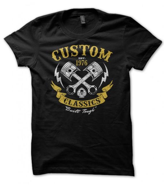 T-shirt Custom Classics, Built tough Motorbike