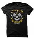 T-shirt Custom Classics, Built tough Motorbike