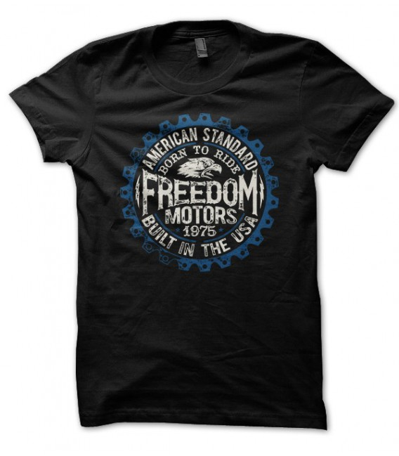 T-shirt Freedom Motors, Built in USA