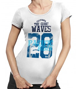 T-shirt Femme Giant Waves, Pacific Riders Surf