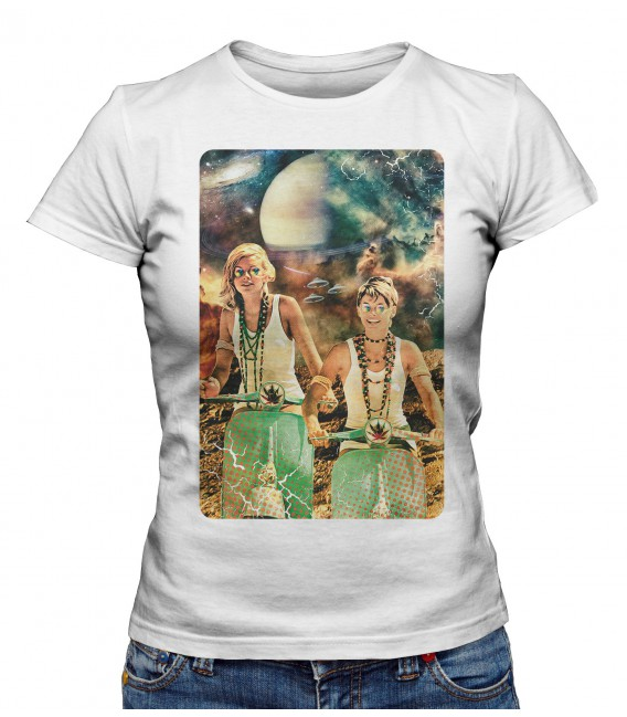 T-shirt Femme Galactic Cruise in Vespa