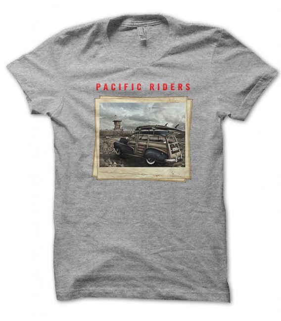 T-shirt Pacific Riders Old Vans Surfing