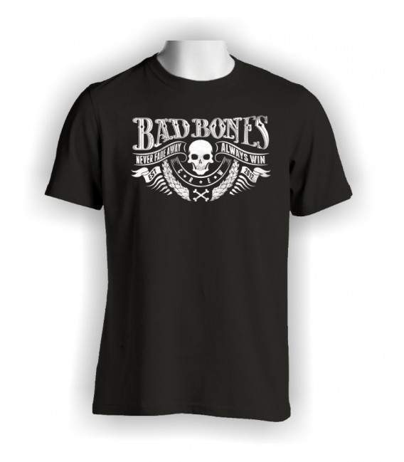 T-shirt BaD Bones Crew, Never Fade Away