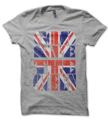 T-shirt God save the Queen, English Flag Punk