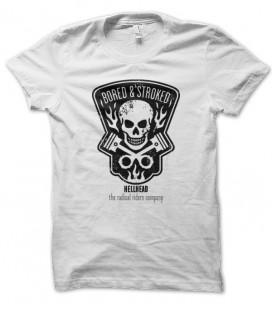 T-shirt Bored & Stroke, Motorbike Skull Racer HellHead